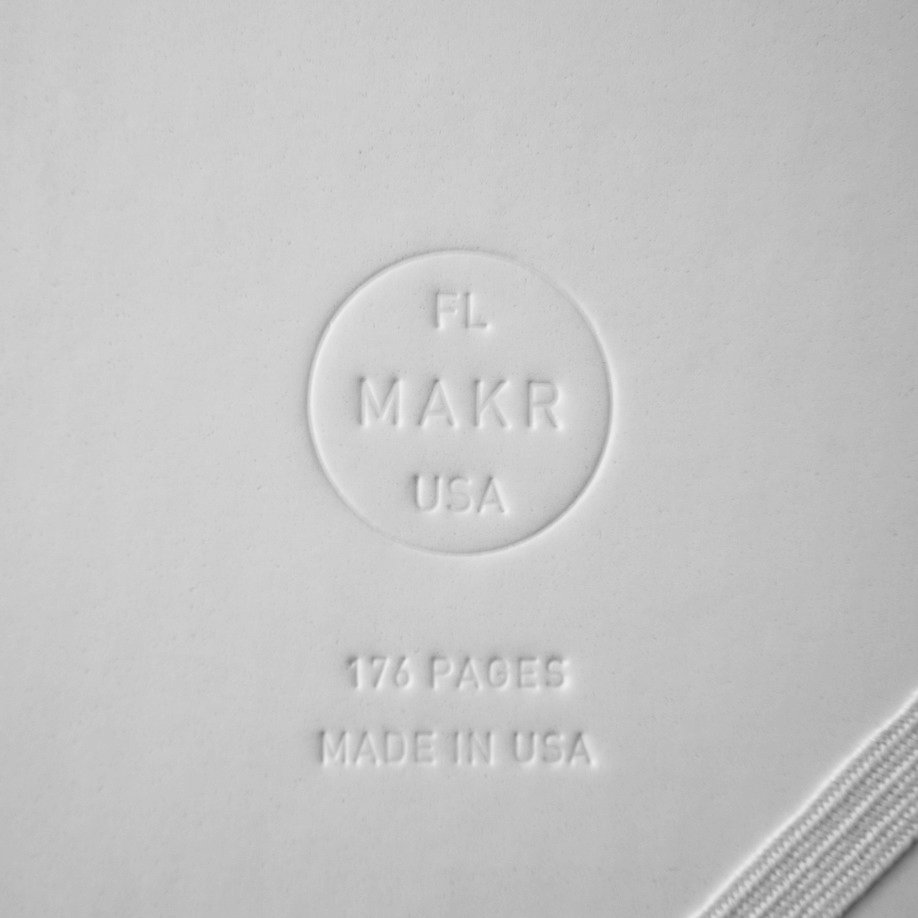 The company's embossed logo discreetly lounges in the back.  Photo 3 of 4 in Product Spotlight: Sketchbooks by Makr