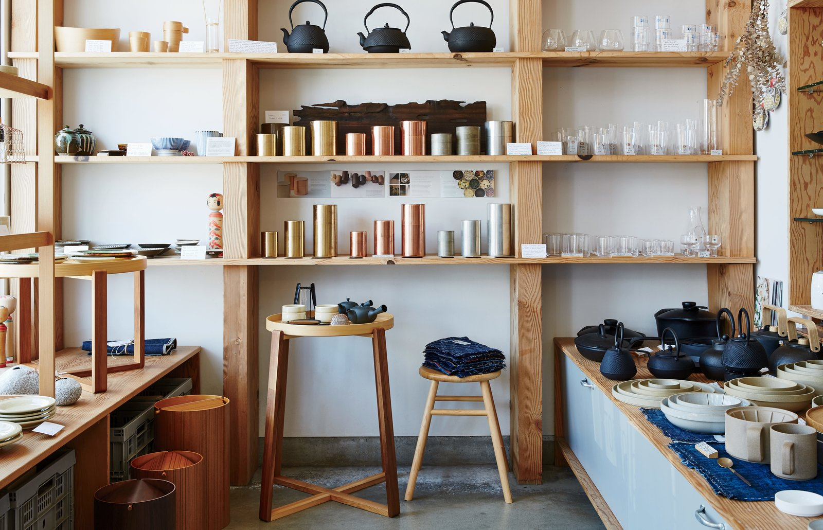 Keiko and Taku Shinomoto have two simple rules for their store: that the items come from Japan and that they have been well made by artisans. Just off busy Abbot Kinney Boulevard in Venice, California, the shop carries homewares such as Kaikado metal tea canisters.  Photo 1 of 6 in A Cute Mom-and-Pop Shop in L.A. Showcases the Latest Japanese Design