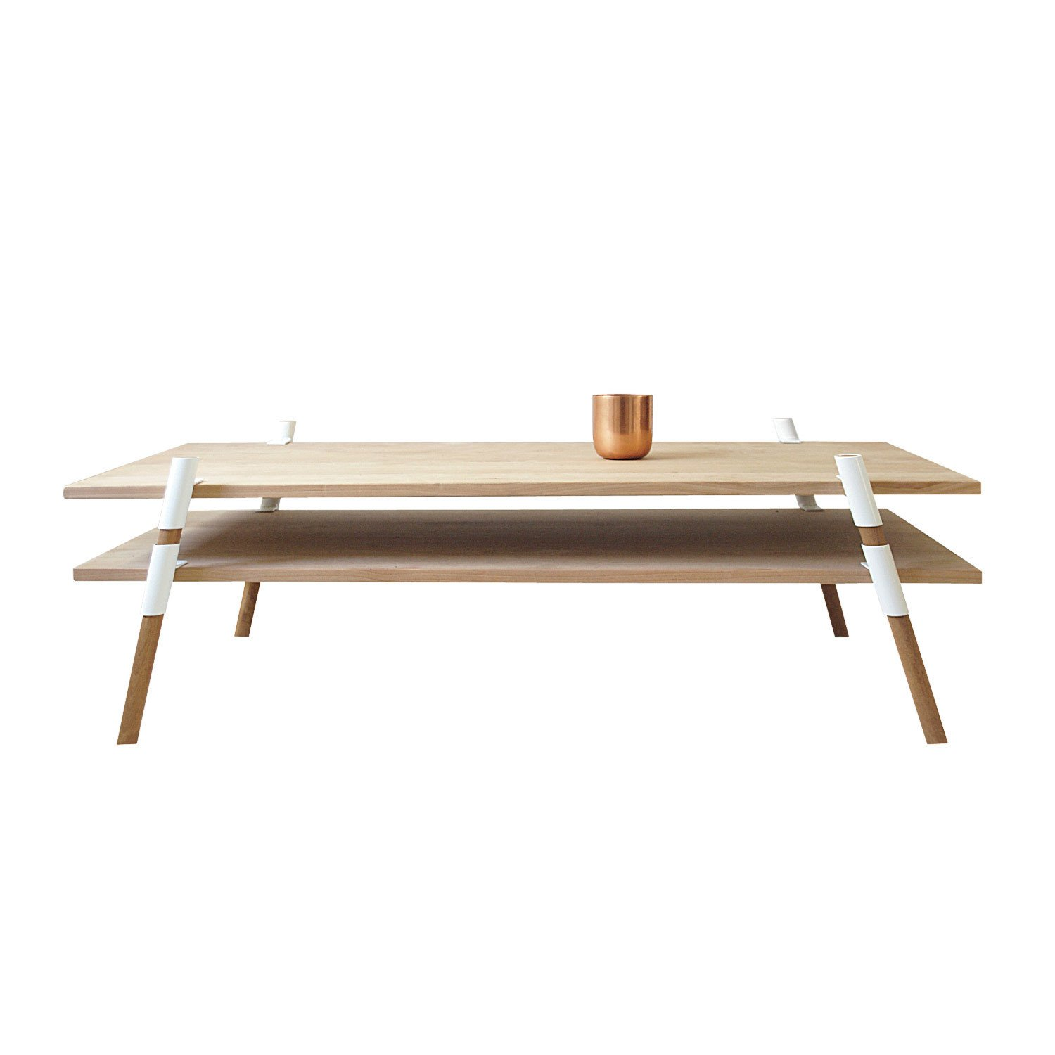 St. Augustine, Florida  2-Tier Coffee Table by Yield Design Co., from $950. Yield Design's restrained material palette showcases each element of this flat-pack alder table with powder-coated steel hardware.  Photo 3 of 9 in 9 Modern Designs That Were Born in the USA