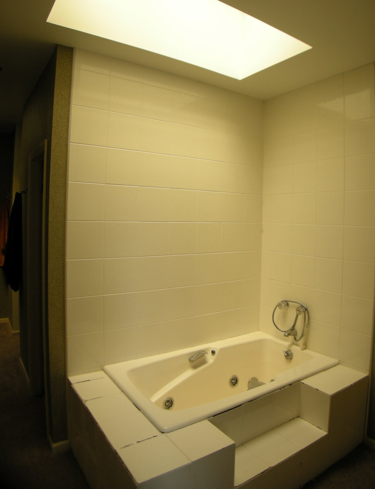 Photo Of In An Impressive Foot Skylight Transforms A - Bathroom partitions chicago