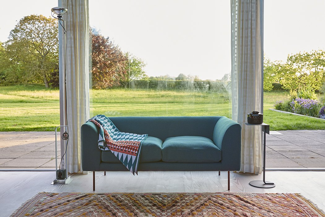 Living Room The loveseat is by Terence Woodgate.  Photo 14 of 18 in Quirky 1970s House in the English Countryside Showcases an Amazing Modern Furniture Collection