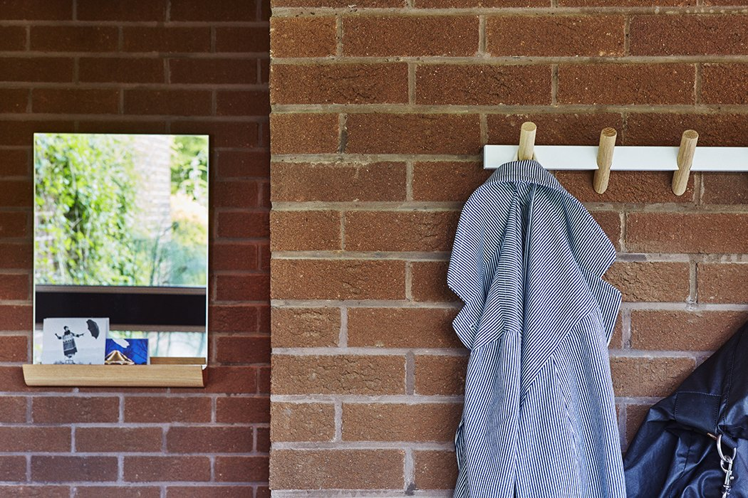 Hallway Faudet-Harrison designed these modern coat hooks for SCP.  Photo 17 of 18 in Quirky 1970s House in the English Countryside Showcases an Amazing Modern Furniture Collection