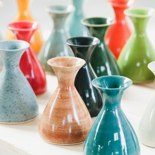 As the beautiful bouquet you brought her dwindles over the following week, she'll need these adorable Little Shirley Vases by Material Good to disperse the blooms.