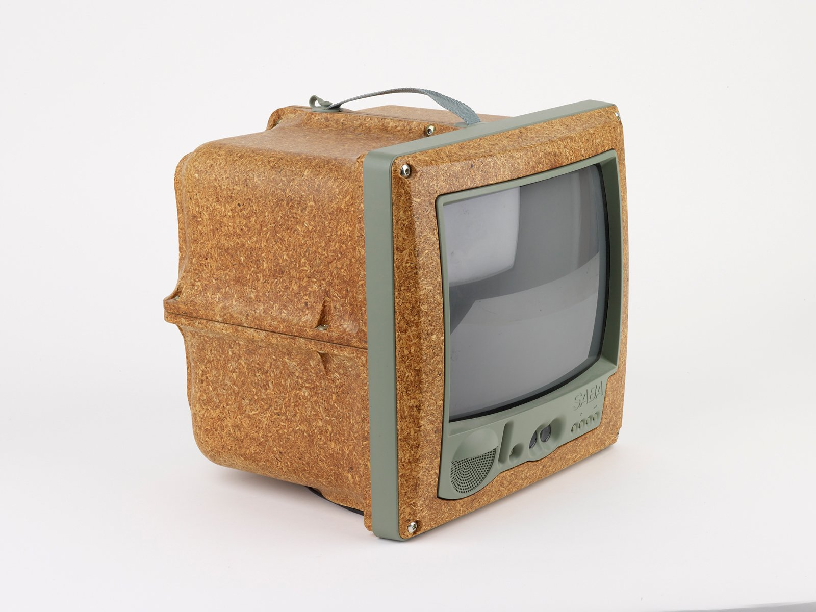 By selecting high-density chipboard casing instead of then-ubiquitous black plastic in 1994, Phillippe Starck's Jim Nature Portable Television was at the forefront of questioning the unabated use of plastics.  Design Museum London's Extraordinary Stories about Ordinary Things by Rebecca L. Weber