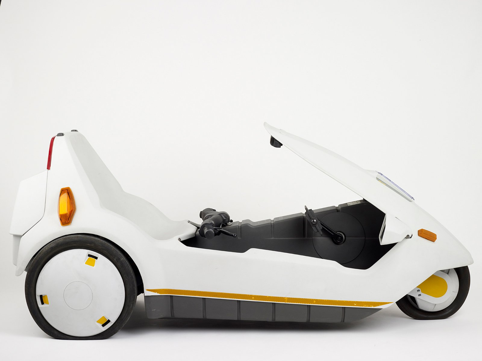 Sir Clive Sinclair remains a key figure in British electronic tech design. His 1985 C5 electric vehicle may have been ahead of its time in design and concept, but was a commercial flop. It just received the dubious distinction of worst innovation of all time by technology buffs, according to The Telegraph. The manufacturing process for this tiny vehicle was the same as that for making car bumpers, joining two pieces of polypropylene together in 70 seconds.  Design Museum London's Extraordinary Stories about Ordinary Things by Rebecca L. Weber