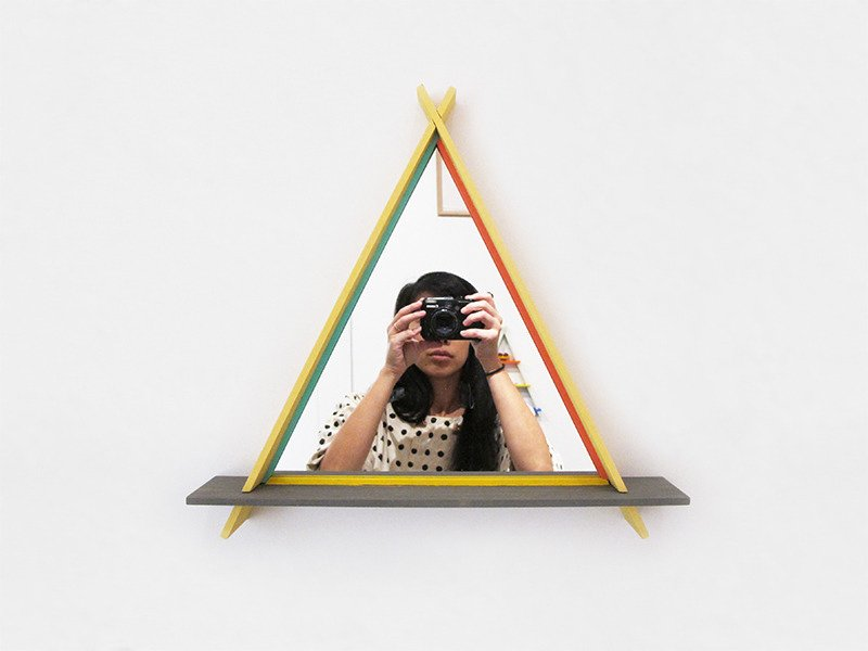 This one even comes with a mirror!  Photo 4 of 5 in Product Spotlight: A-Frames by Chiaozza