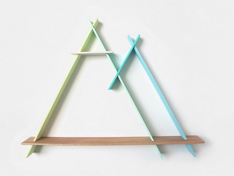 Twin Peaks in Icy Blues and Greens, $200  Photo 3 of 5 in Product Spotlight: A-Frames by Chiaozza