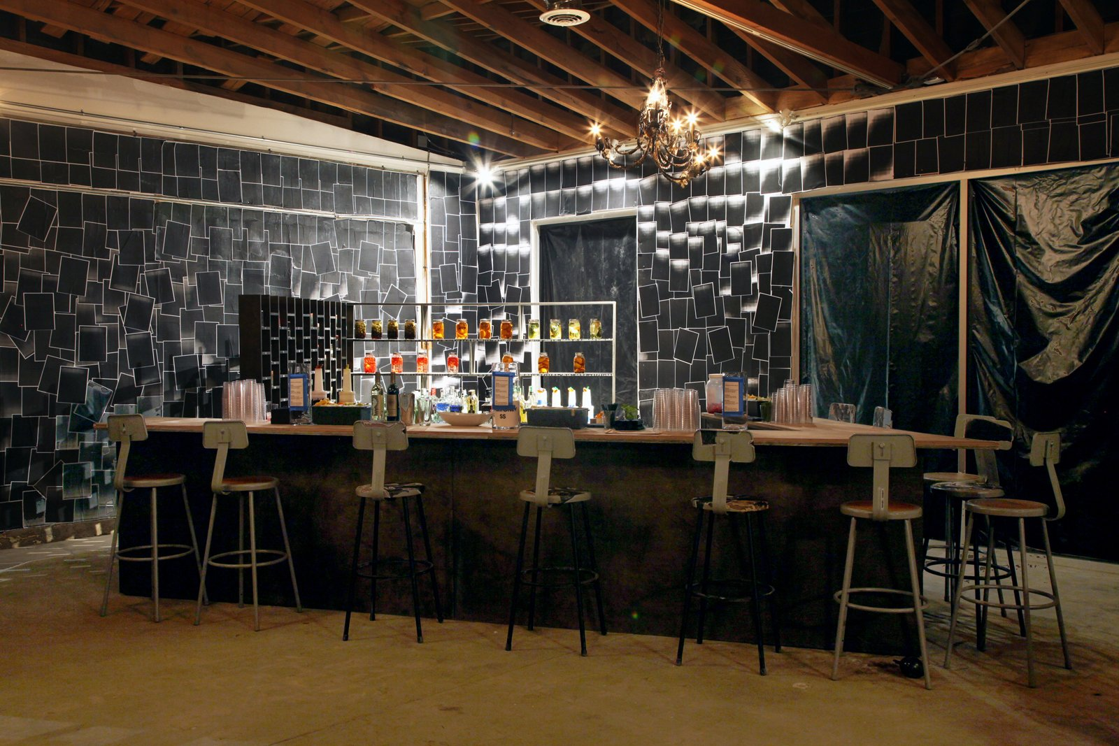 A past installation by Liz Glynn, BLACKBOX (Bar) in 2012. Stained wood, one hundred unique numbered glazed ceramic mugs, 11 stools, Xerox copies, and acrylic. Photograph by Calvin LeeCourtesy of LAXART and the Getty Research Institute.  Photo 3 of 6 in Frieze Art Fair: 7 Things Not to Be Missed