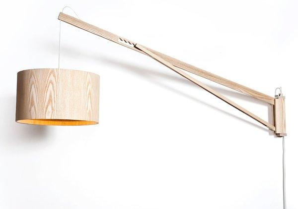 Gardom Wall Lamp, ash wood. Photo by: Gilad Langer