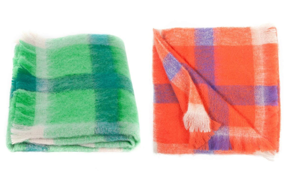 Gorman's mohair Picnic Throw—which comes with fringed edges in two colorways of cheery plaid—is $249 Australian (plus $25 for international shipping). Photo credit: Gorman.  Photo 1 of 3 in Mohair We Love: Gorman Blankets