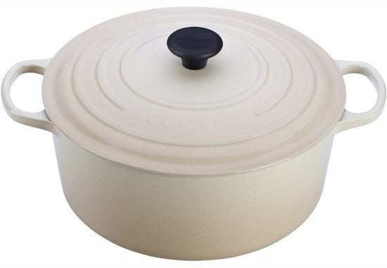 Le Creuset French Oven  While cream isn't technically a pastel, white's softer cousin mixes well with any color group. $350  Pastel Picks for the Kitchen by Olivia Martin