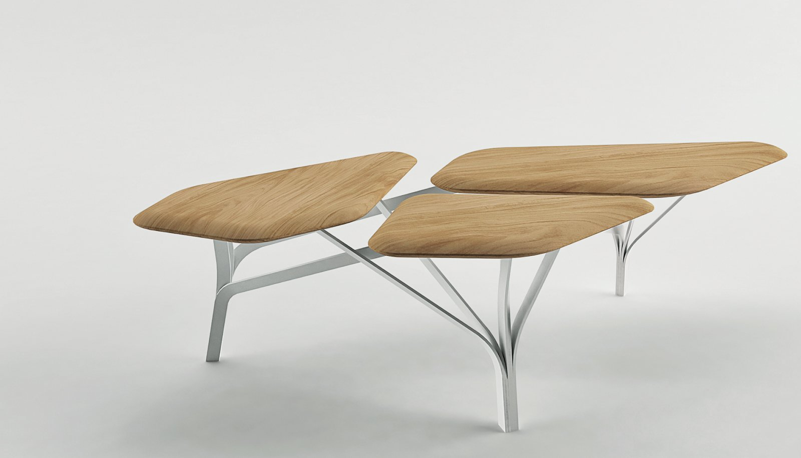 Noé Duchaufour-Lawrance's Borghese coffee table has an abstract form that references pine trees in the Villa Borghese park in Rome.  Photo 4 of 10 in Furniture Designer Spotlight: La Chance