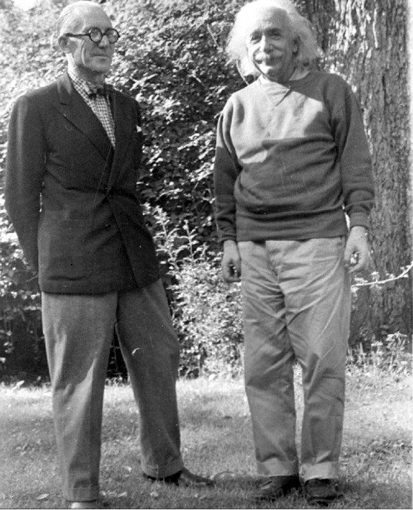 Not easy to make a fellow genius look like a schlub, but double-breasted beats sweatshirt any day.  Photo 5 of 7 in Le Corbusier: The Most Stylish Architect in History from Most Stylish Architect in History: Le Corbusier