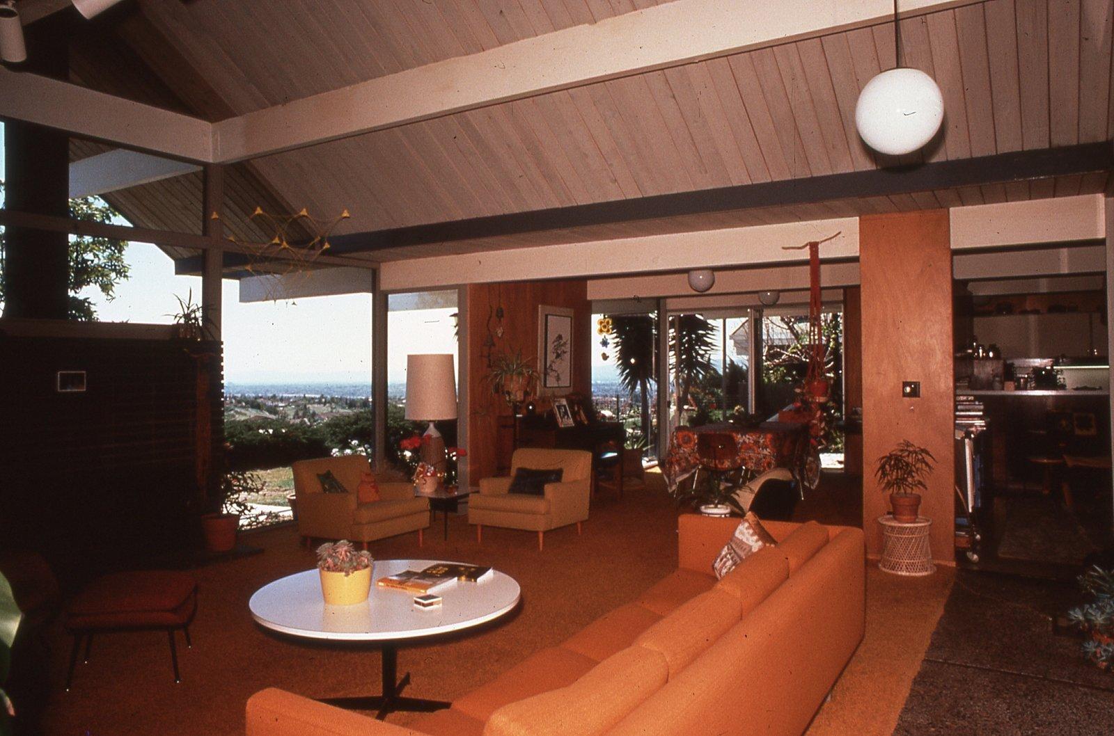 Living room, Balboa Highlands, Granada Hills, California, by Joseph Eichler.  Photo 6 of 6 in Never-Before-Seen Images of Iconic Midcentury Modern Eichler Homes