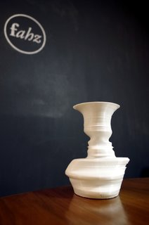 The designers at Fahz can create a 3-D printed vase whose form is determined by the profiles of the people of your choice.