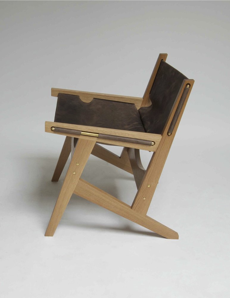 Check out the sling chair that inspired the Peninsula, an original design by Jerry Johnson.  Photo 4 of 4 in Phloem Studio's Peninsula Chair