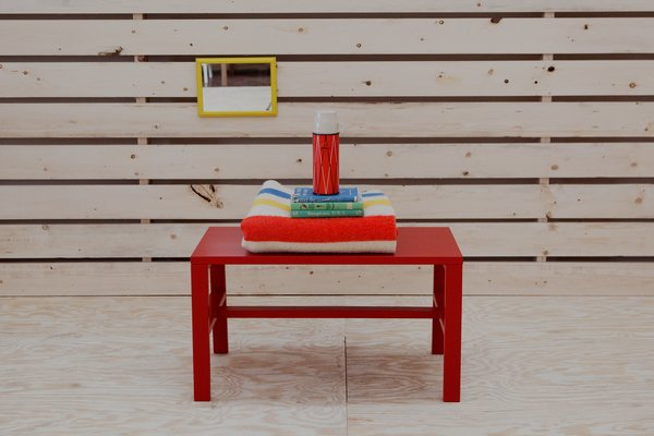 The Cain Collection Bench 1, available in maple at the Dwell Store.