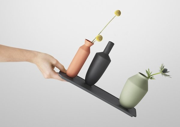 Muuto will display its Balance vases, a clever set that uses magnets to enable gravity-defying angles.