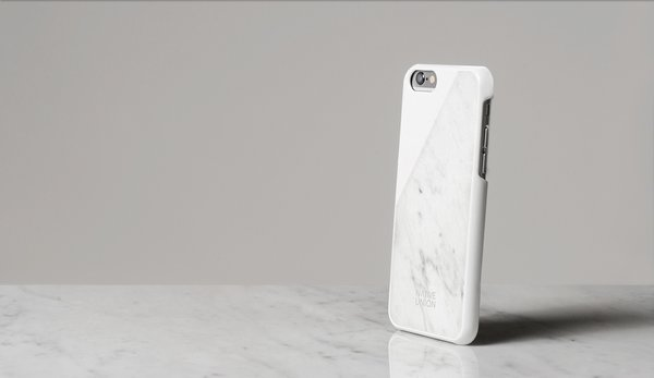 At the show, tech accessories brand Native Union will release an iPhone case with a back cut from a block of marble.
