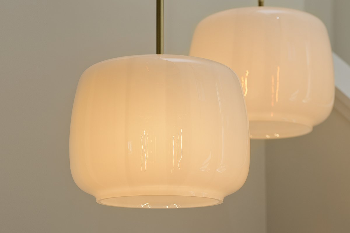 Another colorway, Opal White, in the Radiata glass pendant light by Studio Dunn. The lighting retails for $2,100.  Photo 1 of 2 in ICFF Preview: Radiata by Studio Dunn