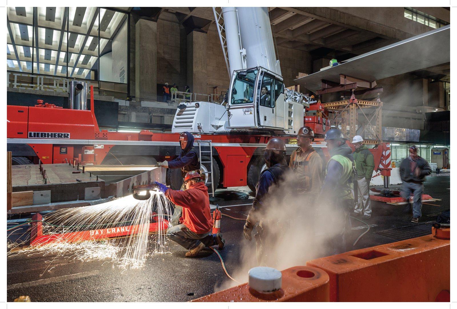 Pedestrian bridge installation, Matthew Monteith, 2012  Lincoln Center Inside Out by Aaron Britt