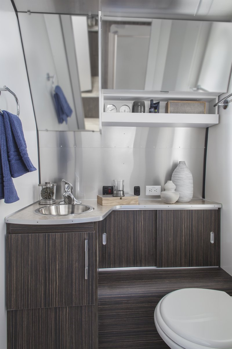 Especially impressive is the seemingly roomy lavatory. See a floorplan of the 28-foot-long Airstream International Signature Series here.  Photo 4 of 4 in Westward, Ho! With Airstream 2 Go