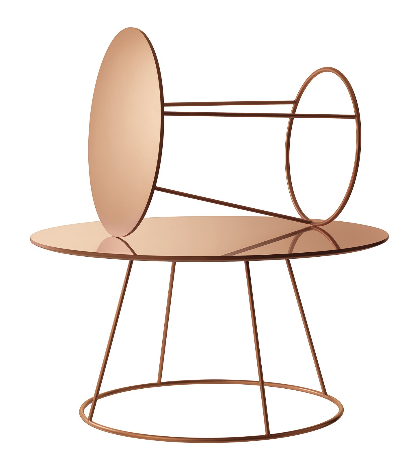 The Breeze tables by Monica Förster for Swedese Förster's debuted a new look at the 2013 Stockholm Furniture Fair: a copper-plated steel base with a laminated copper top, $1,495–$1,995 hightoweraccess.com  Modern Metallic Furniture and Product Designs by Kelsey Keith