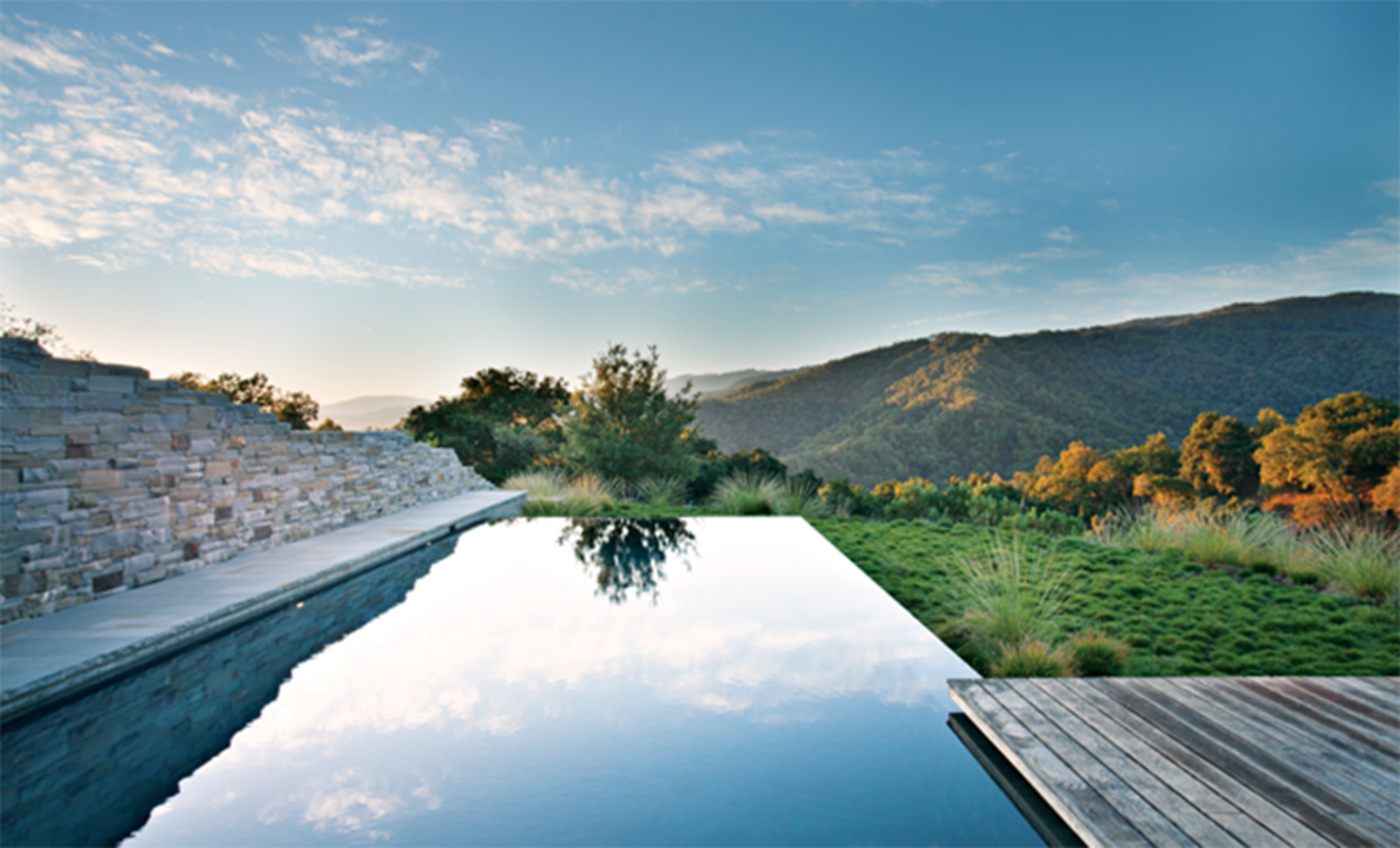 Bernard Trainor collaborated with architect Peter Bohlin for a pool design in the Santa Lucia Preserve. Photo by: Jason Liske. Published in the April 2013 issue of Dwell.  Photo 1 of 1 in Landscape Architect Bernard Trainor