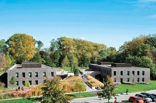 Tod Williams and Billie Tsien ingeniously used earthworks to create an undulating swath of green for students in Pennsylvania, eliminating the need for stairways and elevators as well as shaving quite a few zeros off the bottom line for their client, Haverford College.