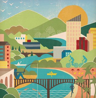 """""""Restoring natural habitats and adding walking and cycling trails along urban waterways can connect people with opportunities at the civic scale to make our environment more healthy and beautiful,"""" says environmental designer Cynthia Hirschhorn."""