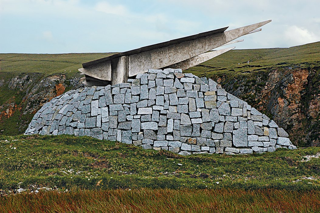 In 2005, in coastal Ireland, the result was a multi-part tribute in stone and steel to the mythical Children of Lir, who were turned into swans for 900 years.  Best of #ModernMonday: Design and Education by Zachary Edelson from A Professor Takes His Students Around the World to Build Modern Spiritual Monuments