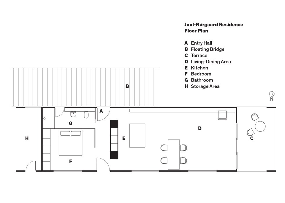 Juul-Nørgaard Residence Floor Plan  Photo 9 of 9 in Each Day at This Floating Home Begins With a Swim, Just Two Feet From Bed