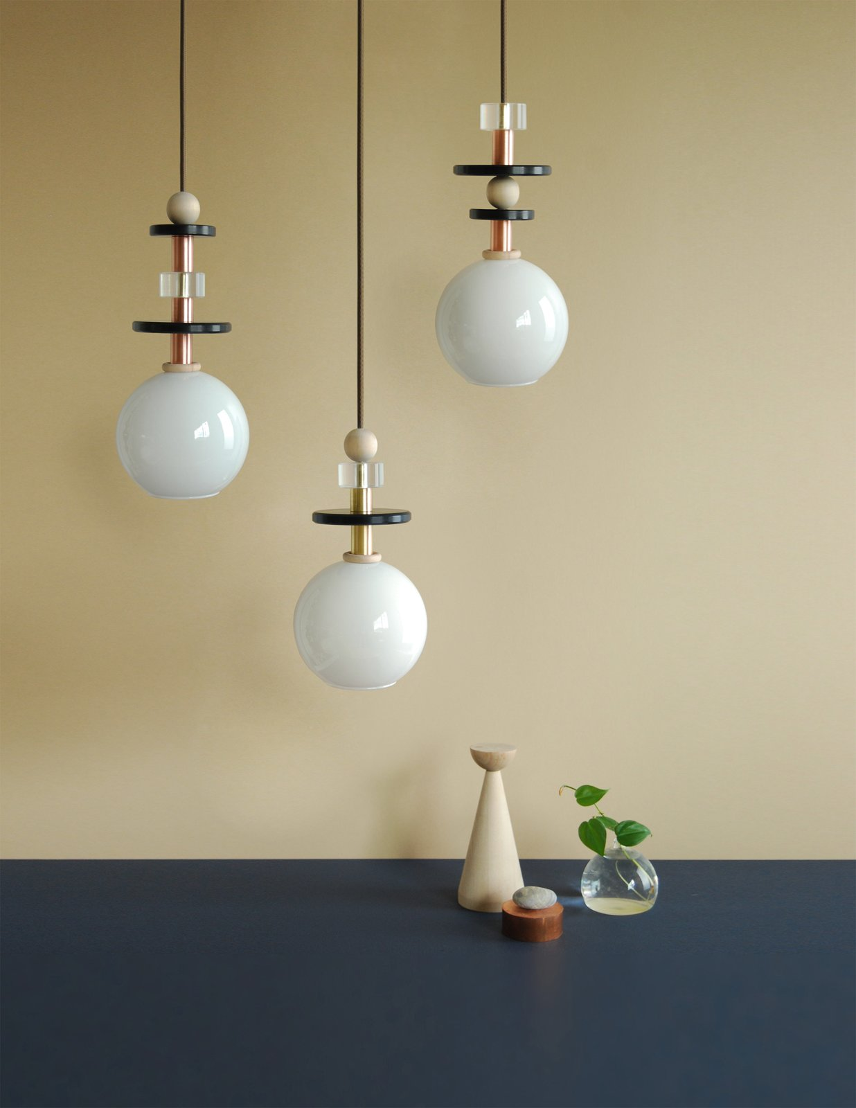 Also at Noho Next, Ladies and Gentleman's Maru lighting, pendant lights created from beaded parts.  60+ Modern Lighting Solutions by Dwell from Top Picks from Noho Design District 2013