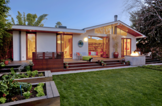 The bones of the original 1940s Garten & Reid Residence are intact; architect Molly Reid played off the 1969 addition with late-mid-century references.
