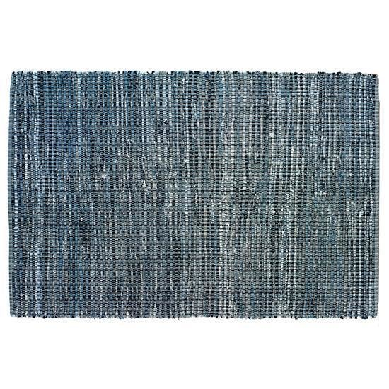 Add some classic Americana with these denim rag rug. It's durable, soft on the feet, and made from recycled fabric. (Land of Nod, $99.00-$299.00)  Ideas for a Modern Nursery by Kelsey Keith