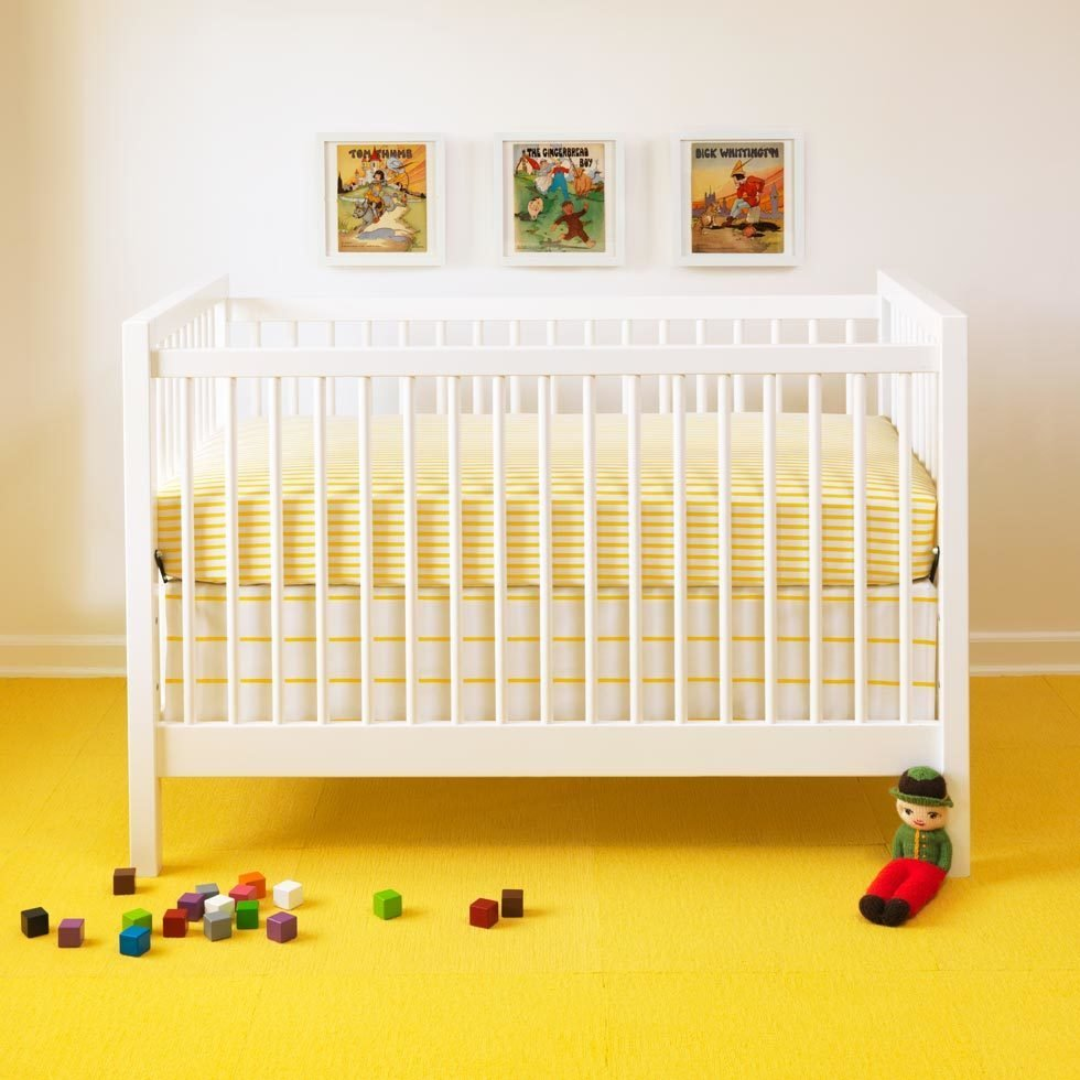Unison is known for its gender-neutral bedding: Stripes and jaunty prints suitable for baby boys or girls are equally appealing to design-minded parents. (Sailor + Regatta crib set from Unison, $44–74)  Photo 11 of 20 in 20 Cool Cribs for the Modern Baby from Ideas for a Modern Nursery