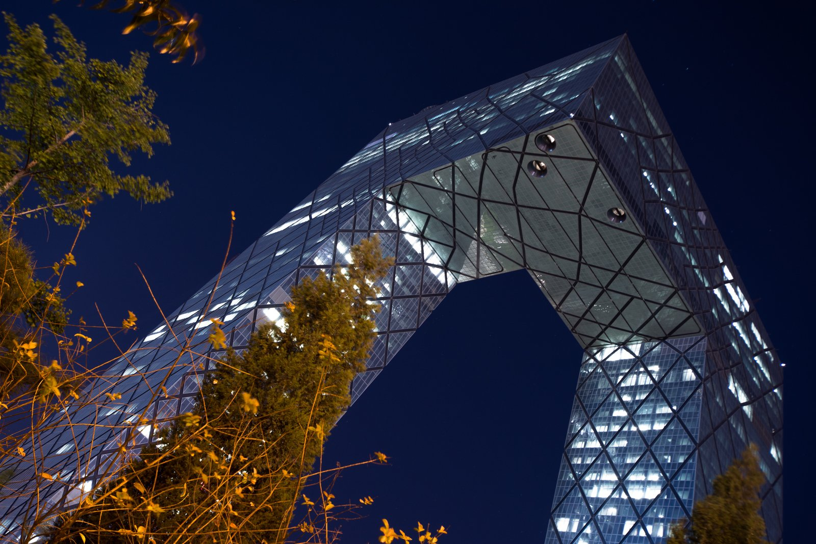 The CCTV tower designed by Dutch architect Rem Koolhaas was meant to be the headquarters for China Central Television when builders broke ground in 2004, but it was only over the past year that CCTV staff started moving into the building in significant numbers.  Photo 4 of 10 in 10 Places to Visit in Beijing