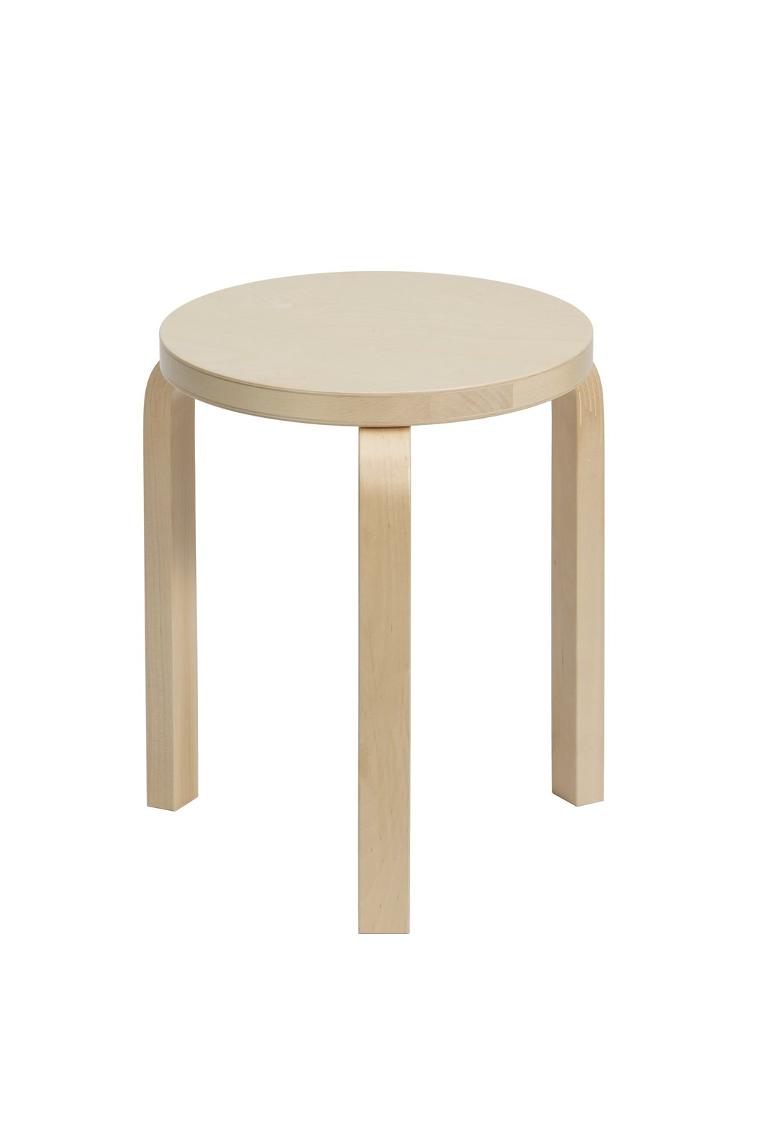 "Alvar Aalto's Stool 60  In lieu of a coffee table, three of these stackable stools were grouped together. $308  Search ""diningfurniture--stools"" from Get This Room: A Sunny Living–Dining Space"