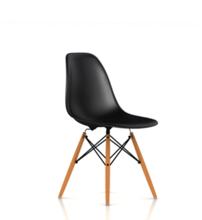 Eames Molded Plastic ChairsThe Eames chair with a wood dowel base is a kitchen classic. $399