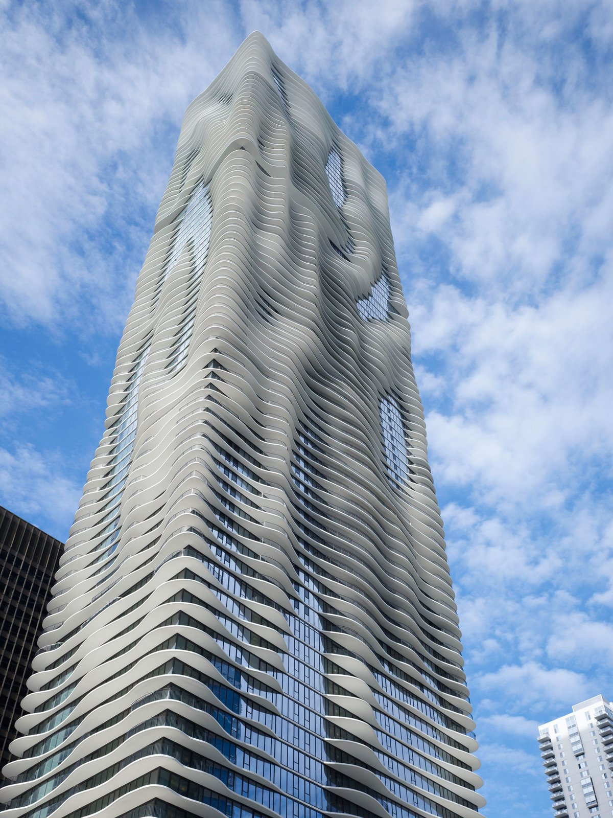 The innovative skyscraper, which is 82 stories tall, features an undulating shape designed to capture views of Chicago landmarks.  Photo 6 of 20 in The 9 Most Influential Buildings of the Decade from Architecture Inspiration of the Day: Aqua Tower in Chicago