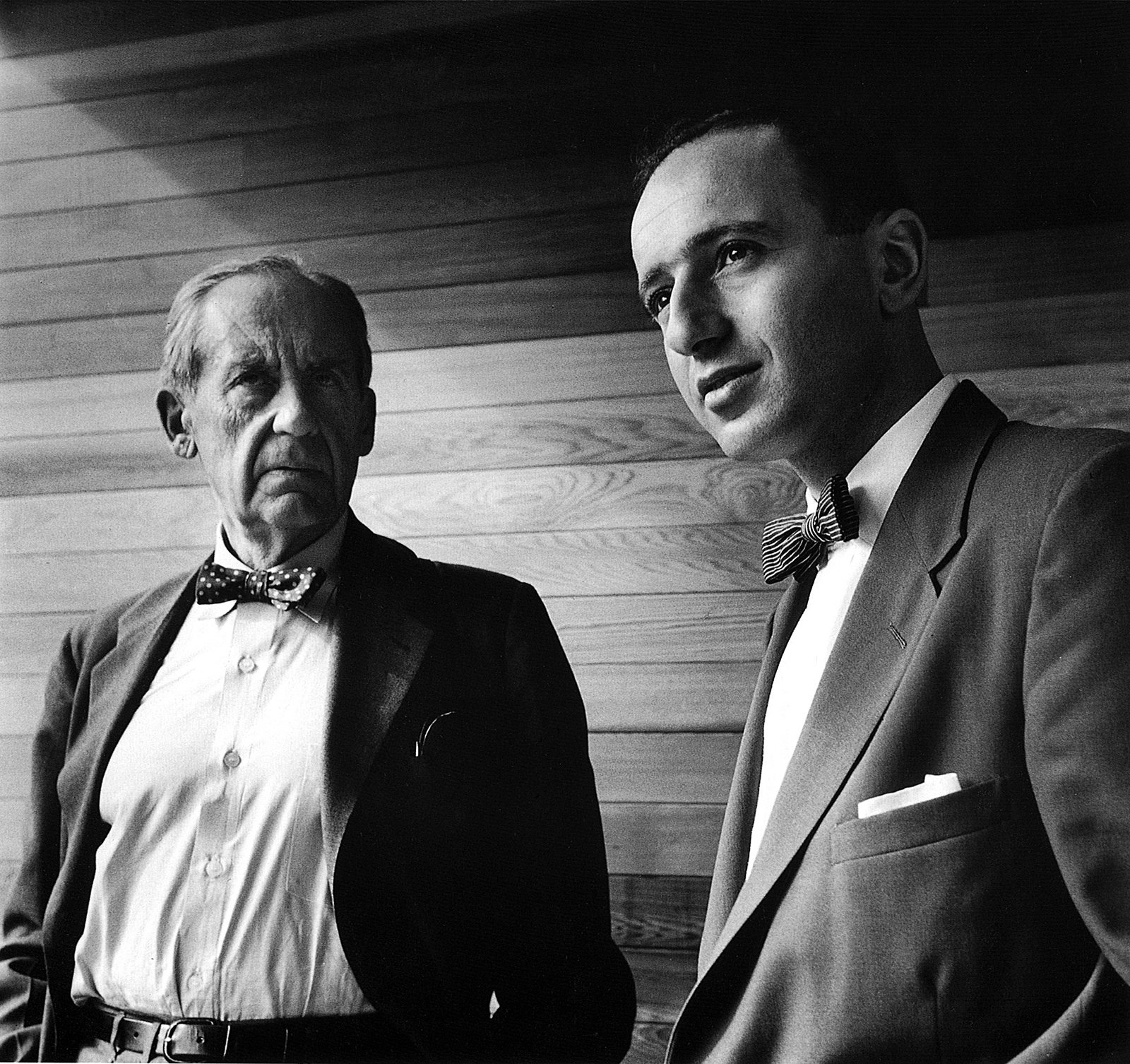 With Walter Gropius in Julian Rose House, Sydney, 1954. Photo © Max Dupain  Photo 2 of 12 in Harry Seidler: Architecture, Art, and Collaborative Design