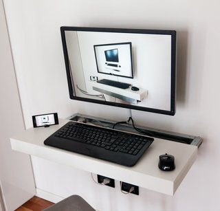 When other space is limited, don't forget to the use the walls. In the kitchen, save countertop and cabinet space by using a magnetic spice rack. No room for a full desk in your office? Purchase a laptop cabinet or computer station that can hang on the wall.