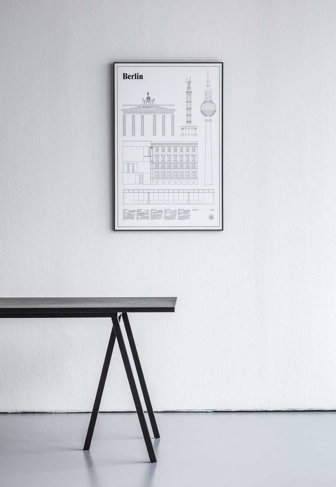 "The Berlin Elevations Architectural Print celebrates building from the German capital, including iconic structures alongside lesser known places, focusing on the often overlooked details that comprise the modern urban experience. This print provides architectural drawings of five of Berlin's buildings— Brandenburger Tor, Berliner Siegesäule, Am Kupfergraben 10, Berliner Fernsehturm, and Neue Nationalgalerie.  Search ""stockholm elevations architectural print maple frame"" from These Limited-Editon Prints Capture Architectural Landmarks Around the World"