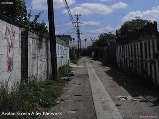 The city of Los Angeles is home to 900 miles of urban alleys, totaling approximately 2,400 acres of underused and even unsafe spaces. Resilient design looks for opportunities to transform landscapes like like these into green spaces that foster local communities while also helping to protect the environment.