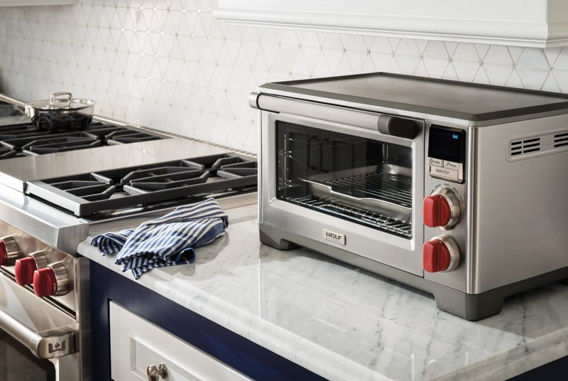 Wolf Gourmet countertop oven with convection has an integrated temperature probe for predictable baking, roasting, and broiling results.  Photo 4 of 7 in Sub-Zero Celebrates 70 Years in the Kitchen