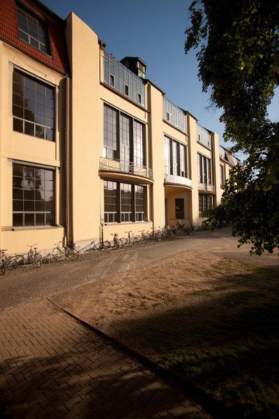 The main building of Bauhaus University. Designed by Henry van de Velde in 1904 when it was the School of Art and Applied Arts. The design and installation of large windows provided the students with natural light. Van de Velde was the director there from 1902 - 1917. The building is now a UNESCO World Heritage Site.