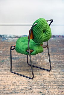 Each chair is individually handcrafted and sculpted using upholstered foam.