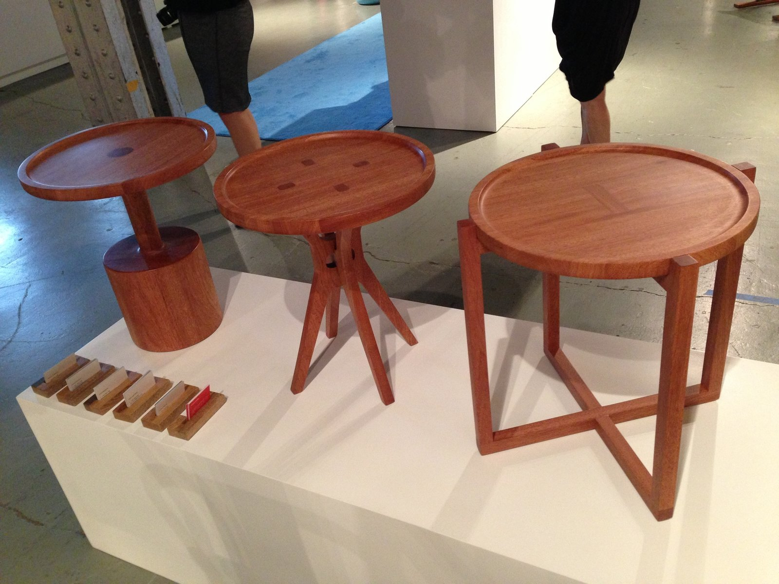 The Botón side tables by Guatemala and Florida-based Labrica make a subtle nod to their namesake with tops resembling buttons.  Checking In On WantedDesign 2013 by Sara Carpenter