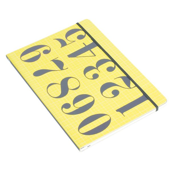 Each Eames Notebook in Whitbread Wilkinson's series includes a graphic design from Charles and Ray Eames. The Numbers pattern notebook, shown here, includes 120 pages and an elastic band to keep the notebook secured. The eye-catching pattern will make a bold visual statement on a desktop or console table.