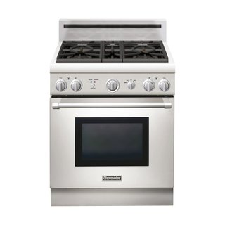 Pro Harmony PRG304GH Gas Range by Thermador, $4,149   Many homeowners expect professional chef-level performance from their ranges. The high price goes toward hyper-specific heat controls that help you to simmer and boil with precision. A removable base lets you quickly clean beneath the burners.